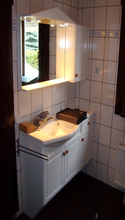 Waschtischanlage im Bestand