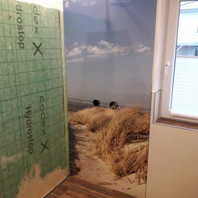 Duschbereich mit Kundenwunsch-Foto